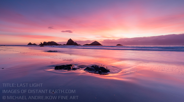 Oregon Fine Art sea stack seascape ocean sunset Michael Andrejkow