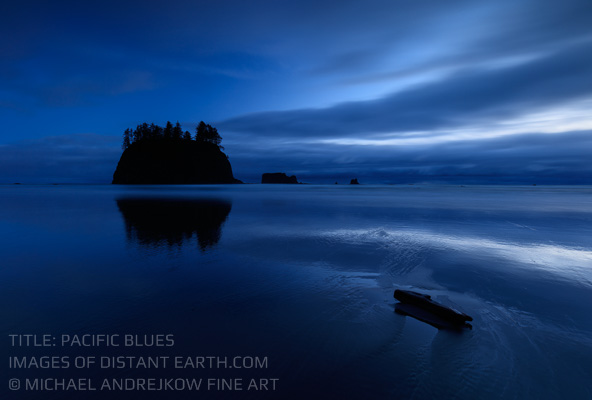 Washington Fine Art seascape ocean sea stack dusk beach Michael Andrejkow