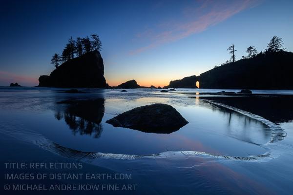 Washington Fine Art seascape sea stack ocean dusk Michael Andrejkow