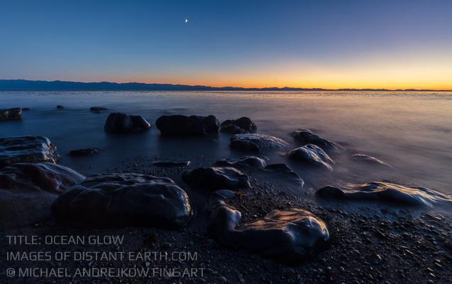 Vancouver Island artwork ocean seascape dusk sunset Michael Andrejkow