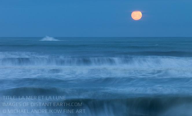 Washington Luxury Fine Art Wall Art Artwork luxury home decor seascape ocean coast waves moon Michael Andrejkow
