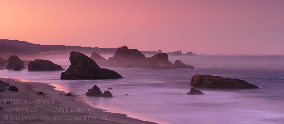 Oregon Fine Art Luxury home decor ocean seascape sea stack beach sunrise Michael Andrejkow