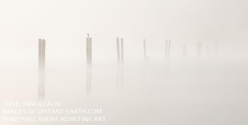 Oregon Fine Art luxury home decor artwork coast ocean pylons mist Michael Andrejkow