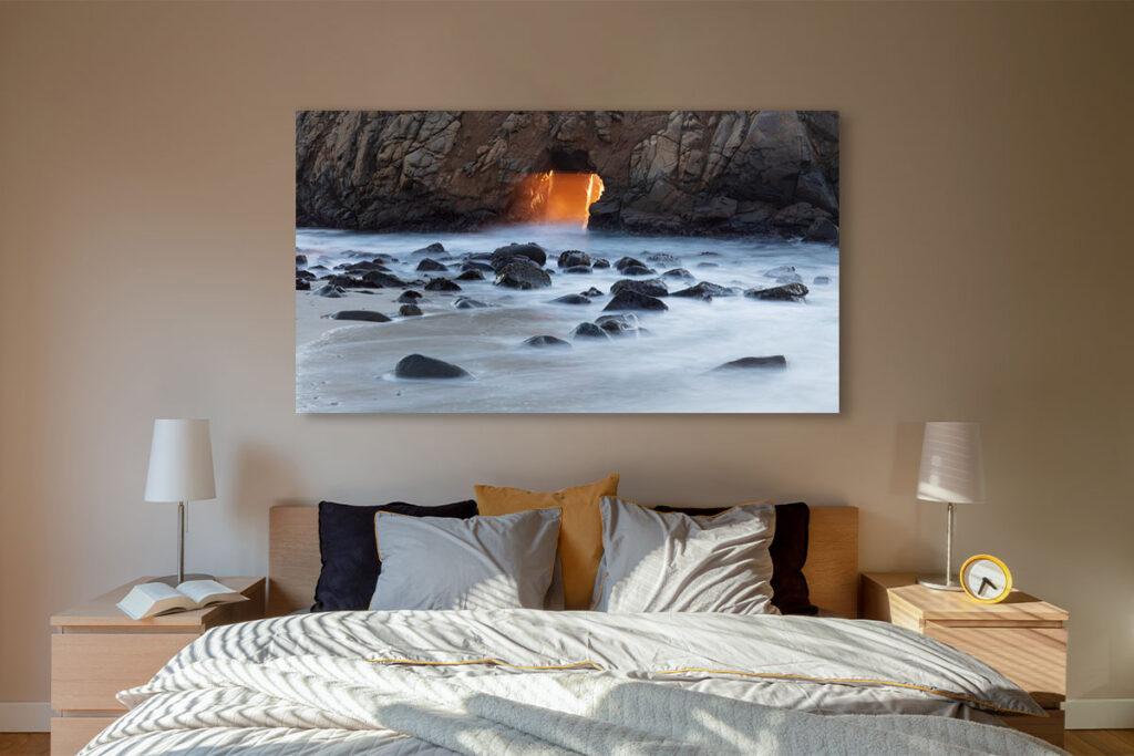 California Coastal Fine Art luxury home decor artwork seascape sea arch sunset ocean rocks Michael Andrejkow