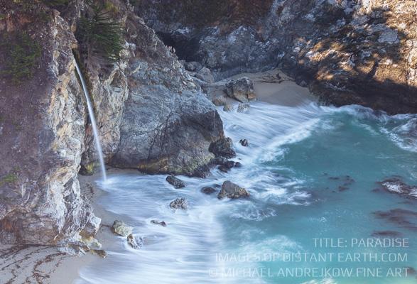 California Fine Art Nature Print for sale Photography waterfall coast home decor artwork Michael Andrejkow