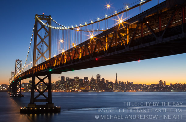 California Fine Art artwork luxury home decor San Franciso Bridge dusk Michael Andrejkow