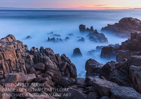 California Fine Art luxury home decor ocean seascape shore coast long exposure Mystic Michael Andrejkow