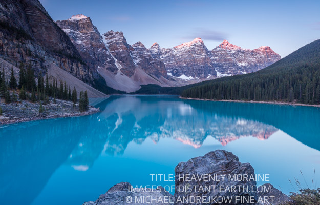 Canadian Rockies Banff Fine Art Prints for sale Luxury home decor artwork Moraine Lake Mountains Michael Andrejkow