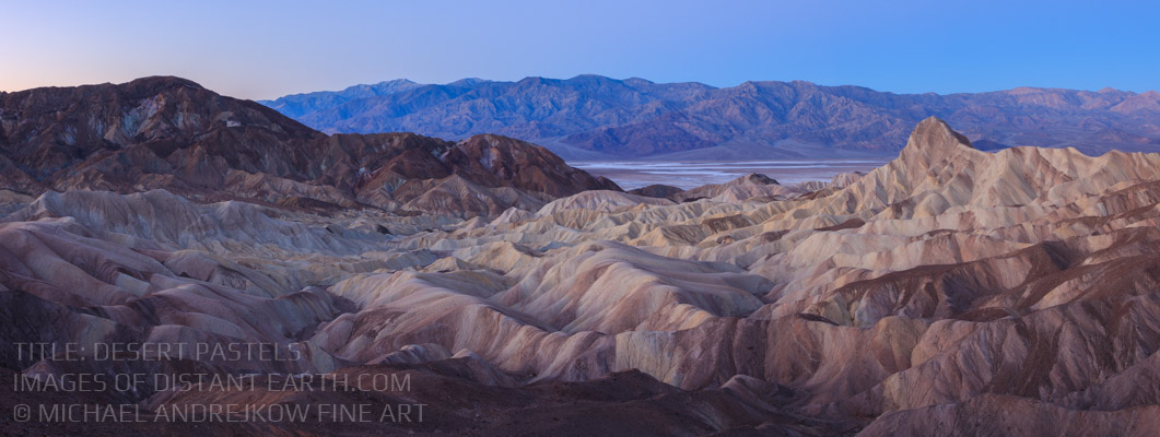 Death Valley Fine Art Panoramic Print Desert Pastels Home Decor Desert Mountains Artwork Michael Andrejkow