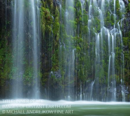 Fine art photography artwork waterfall river cascade home decor Inner Peace Michael Andrejkow