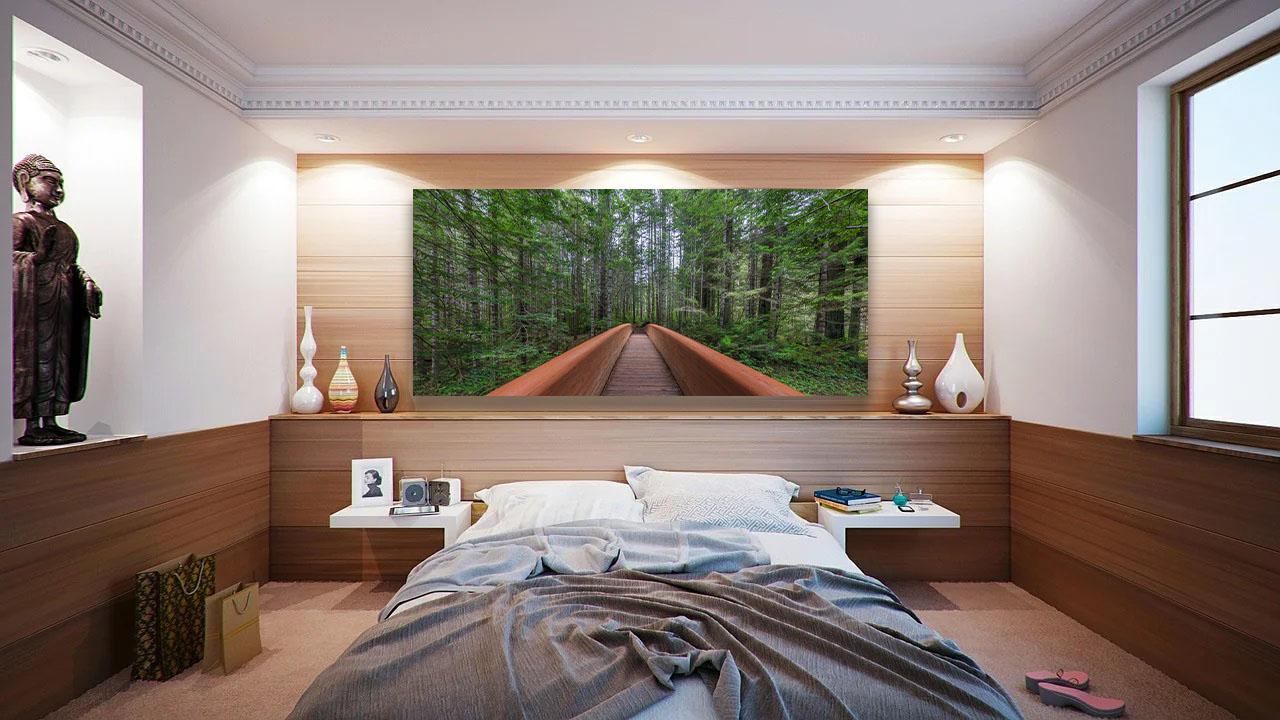 Forest Zen Fine Art Nature Photography Luxury home decor wooden bridge rainforest Michael Andrejkow