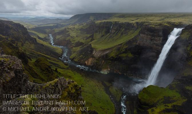 Iceland Fine Art Highland Waterfall Canyon Artwork home decor Michael Andrejkow