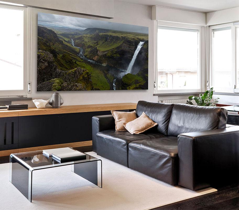 Iceland Fine Art Highlands waterfall Luxury home decor artwork Michael Andrejkow