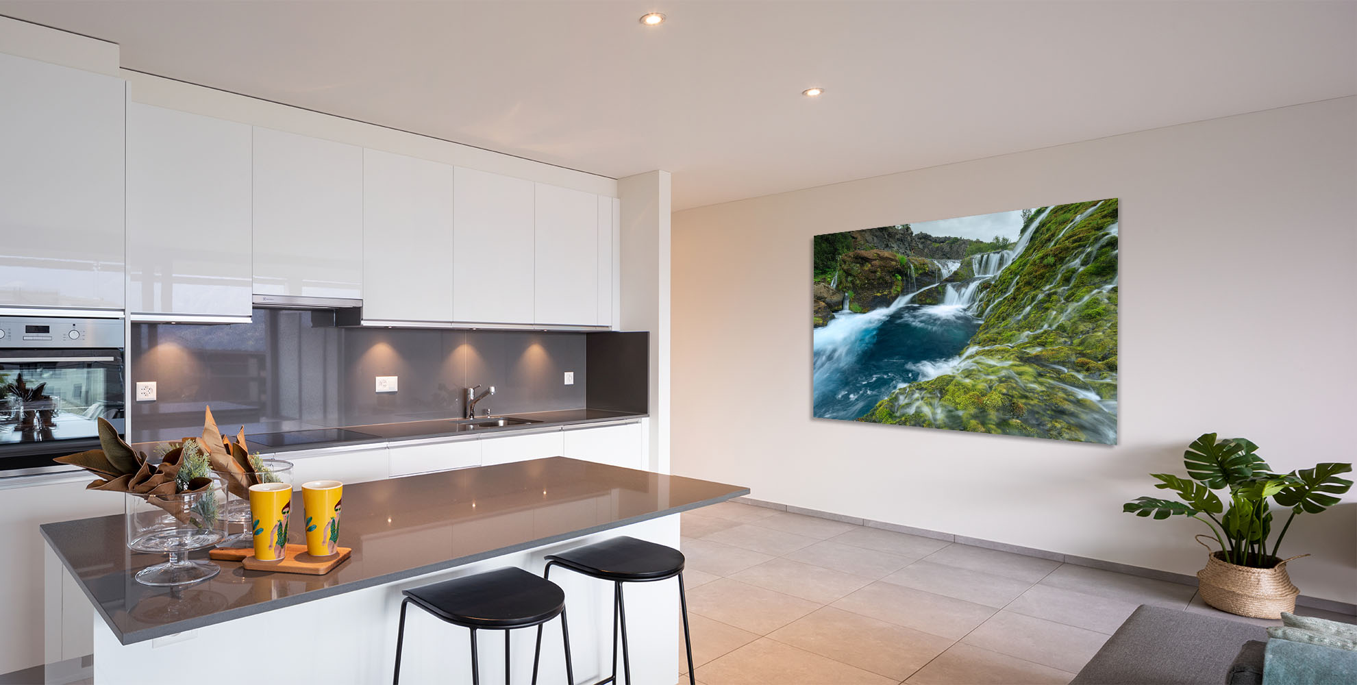 Iceland Fine Art Waterfall Oasis Luxury Home Decor Kitchen Artwork Michael Andrejkow
