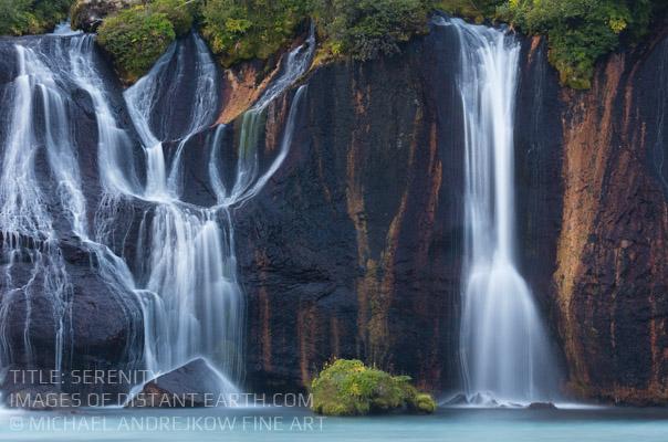 Iceland Fine Art waterfall artwork luxury home decor Michael Andrejkow