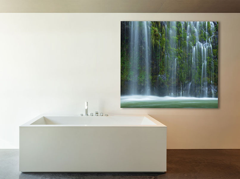 Inner Peace Waterfall river cascade Fine Art Photography Home Decor Artwork Green Michael Andrejkow