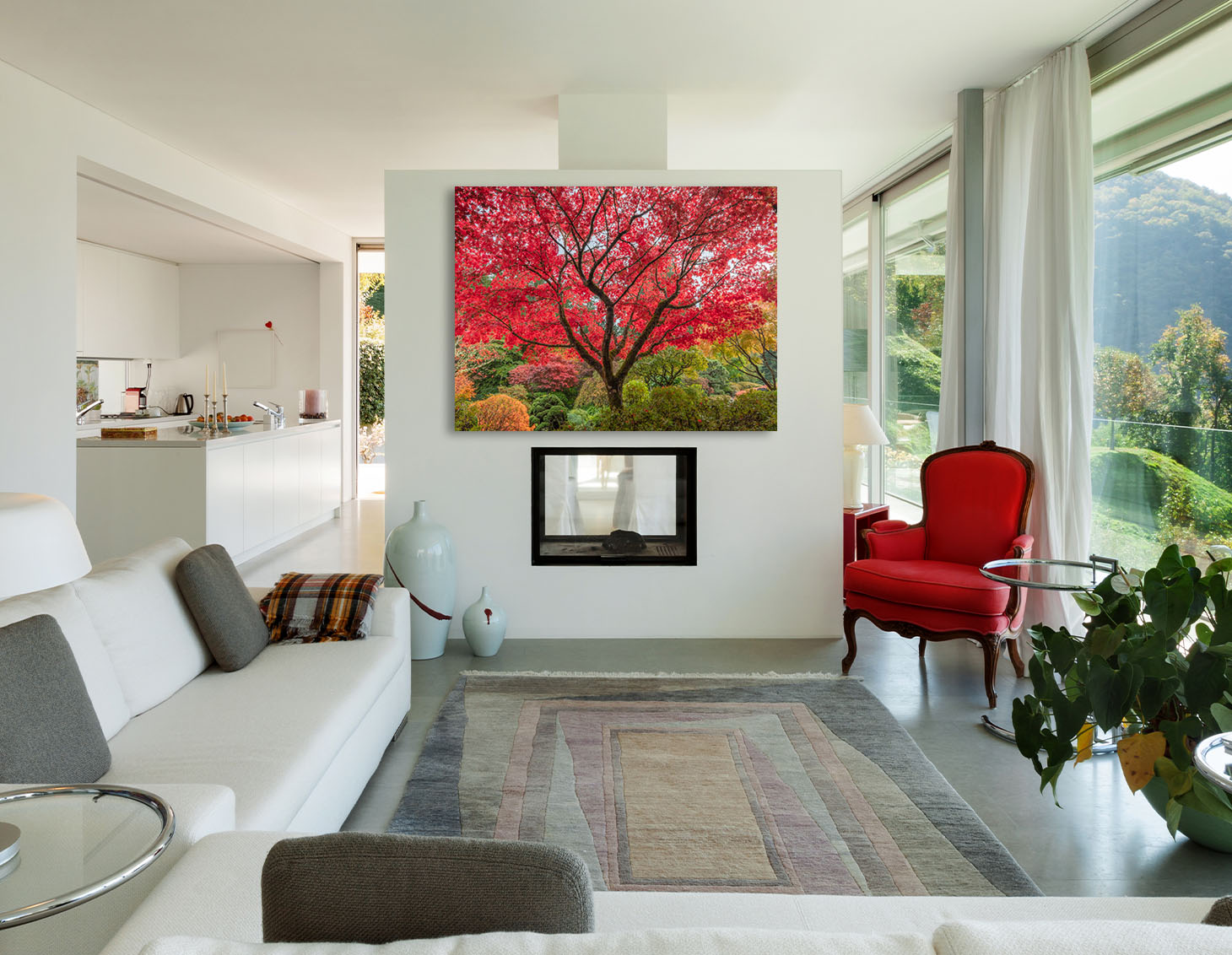 Japanese Maple Tree Artwork Fine Art home decor interior design luxury estate mansion Michael Andrejkow