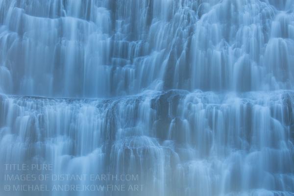 Luxury Fine Art Photography Pure waterfall artwork home decor Michael Andrejkow