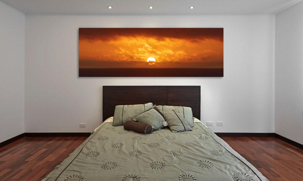 Luxury home decor artwork California Coast ocean seascape sunset sun clouds Michael Andrejkow
