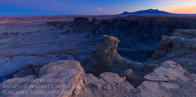 Utah Fine Art Prints Badlands Luxury Fine Art Home Decor Cliff Distant Worlds Michael Andrejkow