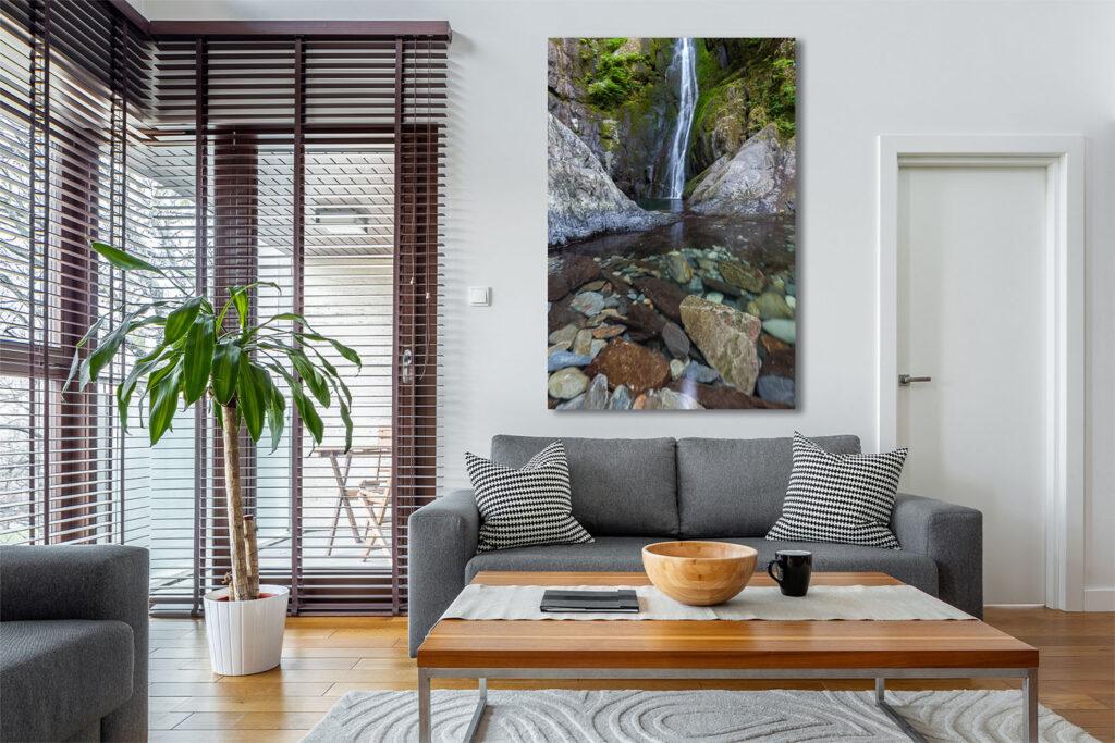 Vancouver Island Fine Art Sacred Waterfall Luxury Home Decor Artwork Michael Andrejkow