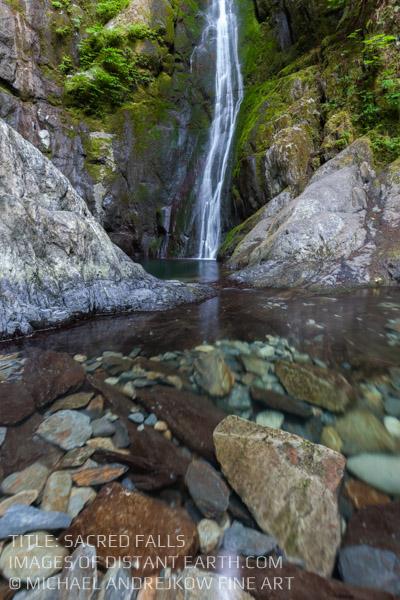 Vancouver Island Fine Art Waterfall Pool rocks Luxury Home Decor Artwork Michael Andrejkow