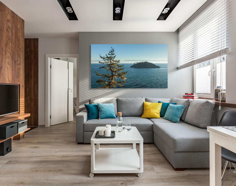 Vancouver Island Fine Art ocean coast seascape tree luxury home decor interior design Michael Andrejkow