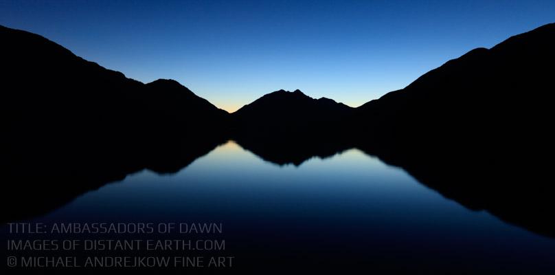 Washington Fine Art Photography Prints for sale Mountains Lake Reflection Dawn Arwork Luxury Home Decor Michael Andrejkow