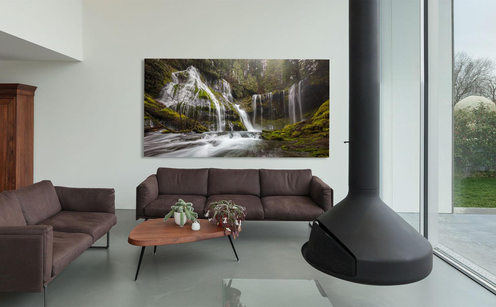 Washington Fine Art Waterfall Forest river creek Luxury Home Decor Artwork Bliss Michael Andrejkow
