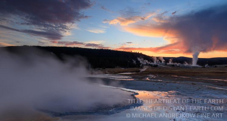 Old Faithful Yellowstone print or sale Luxury Home Decor Michael Andrejkow