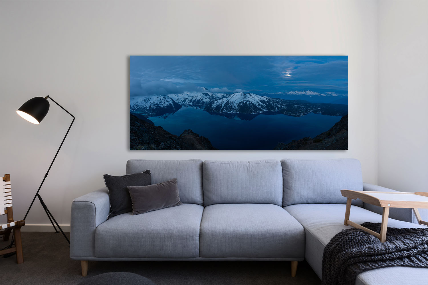 On the Shoulders of Giants BC Coast Mountains Panorama Prints Michael Andrejkow Fine Art