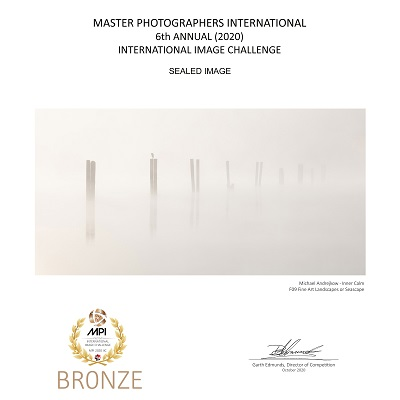 Fine Art Photograhy Prints for sale Luxury Artwork Collection ocean pylons sea morning mist Michael Andrejkow
