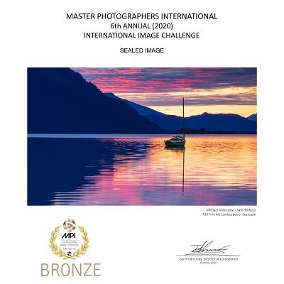 Alaska Fine Art Print ocean artwork sailboat inlet midnight sun Michael Andrejkow