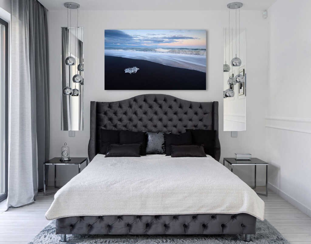 Luxury home decor glamour style Diamonds Iceland Fine Art artwork ocean seascape iceberg beach Michael Andrejkow2