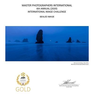 Ocean Fine Art Photography Print beach seastack waves surf Michael Andrejkow
