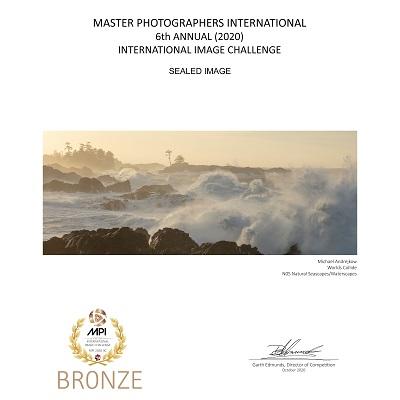 seascape ocean surf waves crashing landfall surge rocky shore island Michael Andrejkow Fine Art Photography Prints